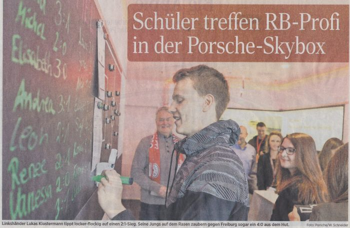 auf einladung von porsche leipzig besuchten wir das spiel des rb leipzig - Bewerbung Porsche Leipzig